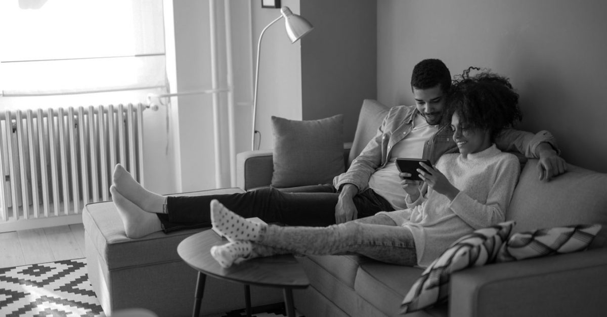 Couple reading Home Report